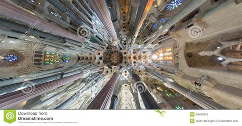 Sagrada Familia Ceiling by Ceiling Sagrada Familia Stock Photo Image 24483840