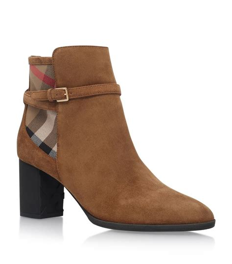 burberry stebbingford suede ankle boots in brown lyst