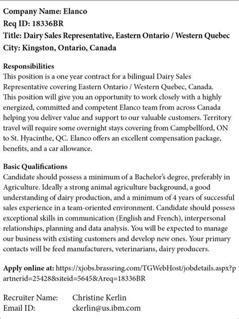 Elanco job ad | FarmersForum.com