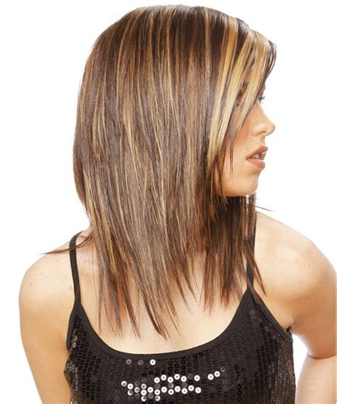 point cut hairstyles long straight casual hairstyle medium brunette golden