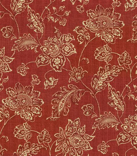 home decor print fabric waverly everard damask ruby jo
