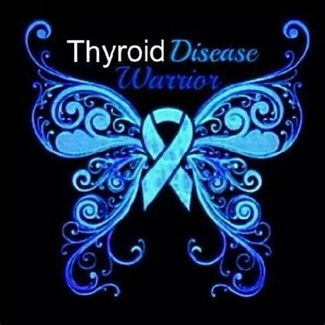 graves disease tattoos pinterest graves disease and thyroid disease warrior blue butterfly ribbon thyroid