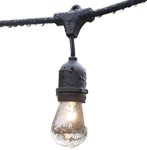 Outdoor Patio Hanging String Lights Deneve Outdoor String Lights 48 With Hanging Loops With 15 E26 Dropped Sockets 15 S14