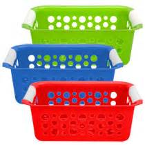 colored baskets bulk brightly colored plastic slotted baskets at
