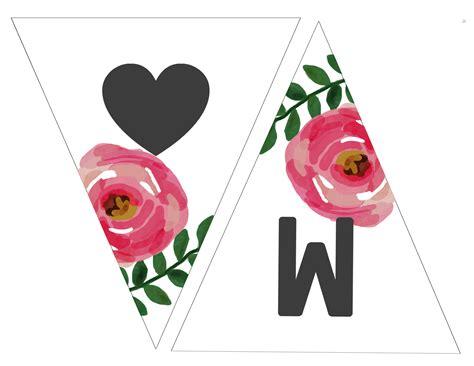 printable heart banner free printable banners free printable banner from