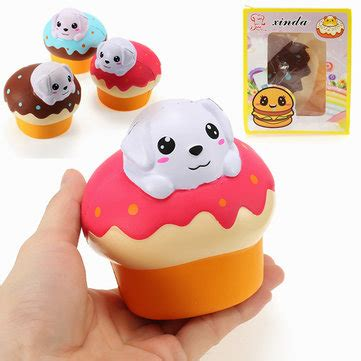 Soft And Slowrise Squishy Hotdog xinda squishy puppy puff cake 10cm rising with packaging collection gift soft sale