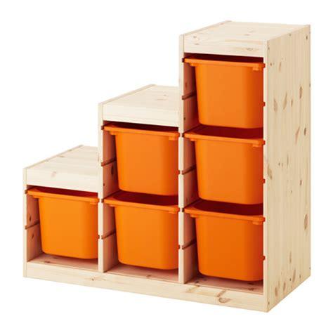 Ikea Trofast trofast storage combination pine orange ikea