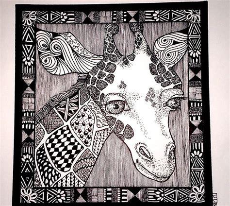 zentangle pattern giraffe doodle lenorabrown do on scratchboard could choose