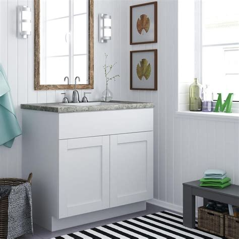 home bargains bathroom cabinets altra 36 inch white shaker style bath vanity cabinet by
