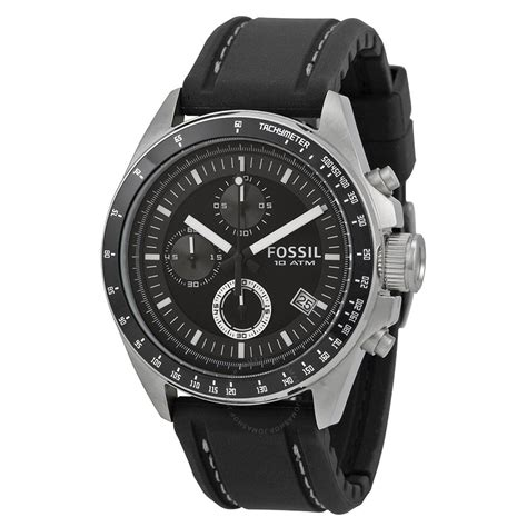 fossil black chronograph s ch2573