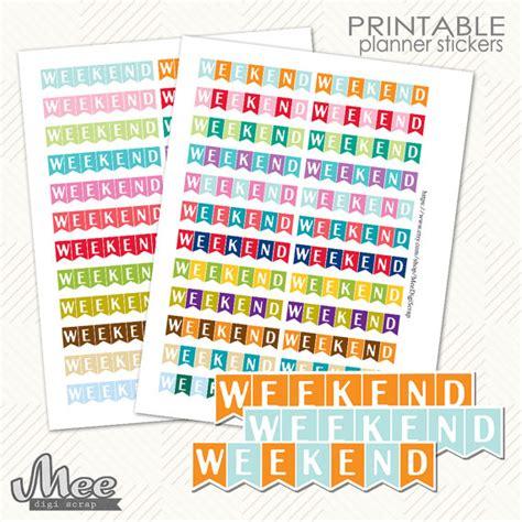 free printable weekend planner stickers weekend planner stickers printable planner stickers ec