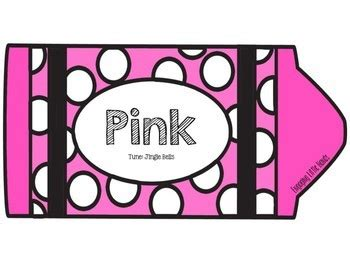 pink color song pink color song crayon book by creating for kinder tpt