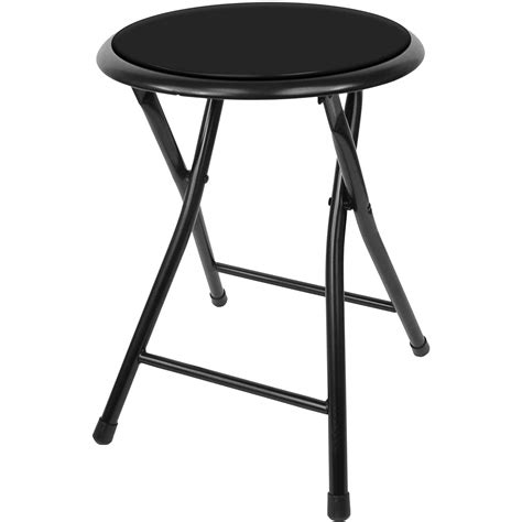 Foldable Stool With Back by Black Cushioned Folding Stool Only 8 50 Deals