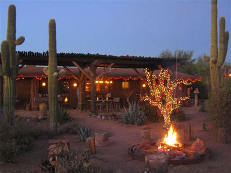 home christmas lights scottsdale arizona a cowboy adobe ranch house
