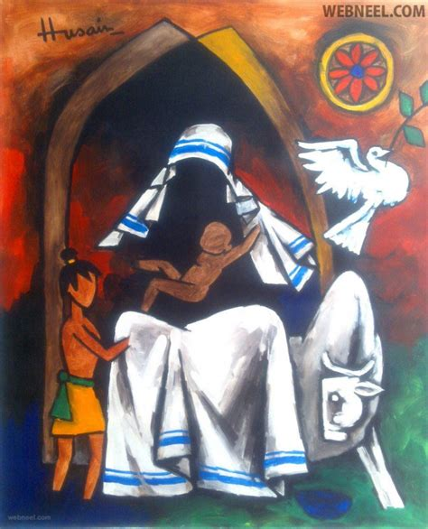 best painting 30 controversial mf hussain paintings most indian