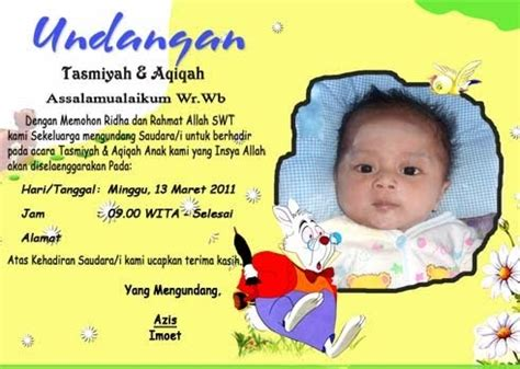 template undangan tasmiyah dan aqiqah template desain undangan tasmiyah dan aqiqah blog azis