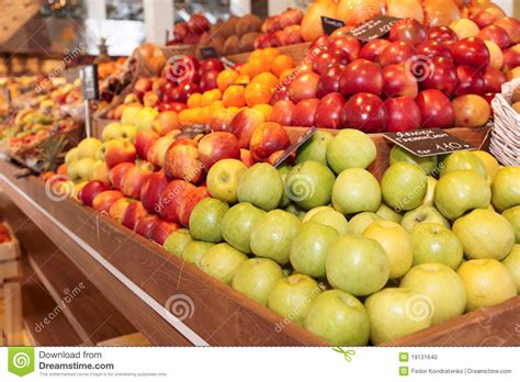Shelf Of Fruit by Shelf With Fruits Stock Photo Image 19131640