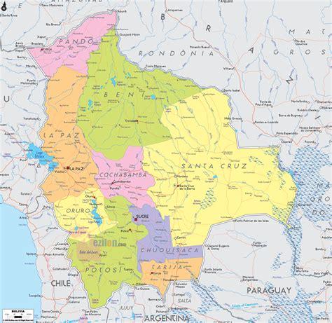 map of bolivia detailed political map of bolivia ezilon maps