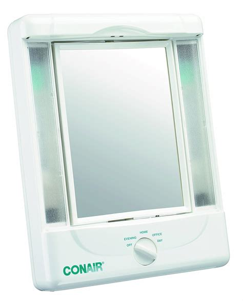 conair 5x magnified lighted makeup mirror conair illumina collection two sided makeup mirror with 4