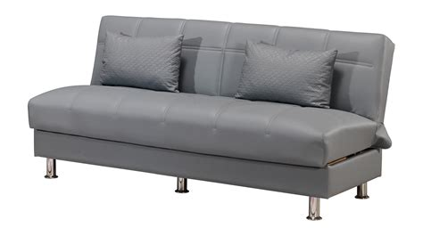 leatherette sofa eco rest zen gray leatherette sofa by casamode