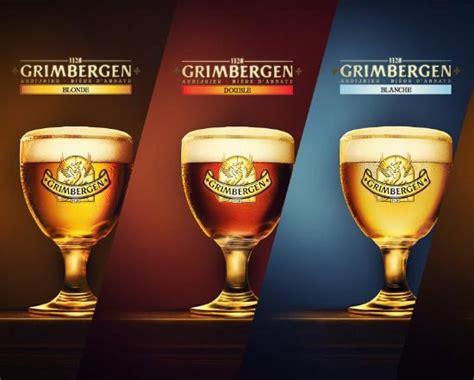 bicchieri birra belga grimbergen birra belga d abbazia foto di dinamo oleggio