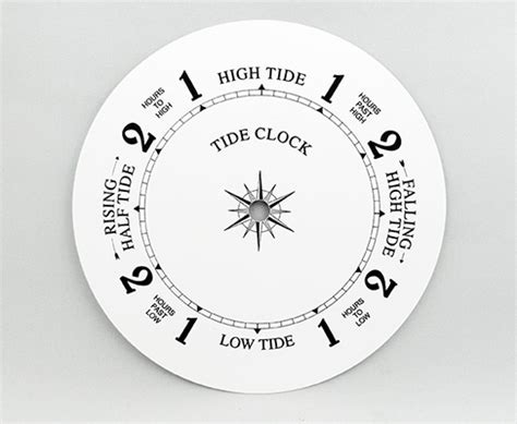 printable tide clock dial white tide clock dial 8 quot