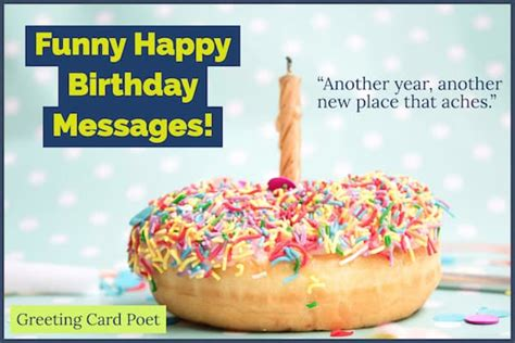 funny happy birthday messages  bring  smiles greeting card poet