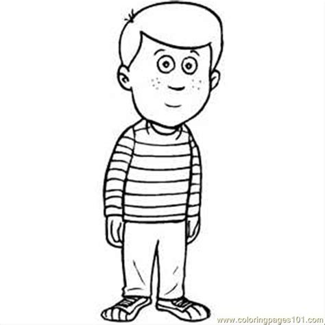 coloring pages standing boy peoples gt emotions free