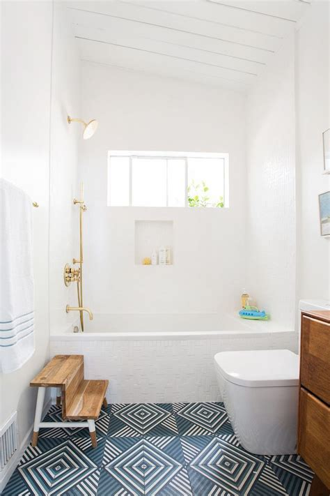 our powder room makeover from damask to emily 1000 images about bathroom decorating ideas on pinterest encaustic tile floating vanity and