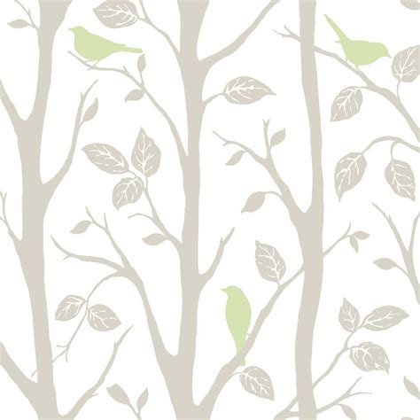 grey wallpaper with leaves nuwallpaper grey and green sitting in a tree peel and