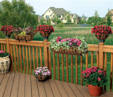 Deck Railing Flower Planters by Cobraco Htant24 B Antoinette 24 Inch Black