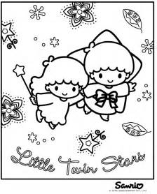 Little Twin Stars Coloring Pages sketch template