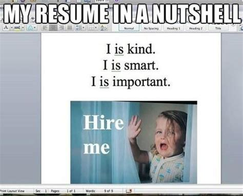 Resume Meme Top 20 Most Quotes And Pictures Collection Quotes And Humor