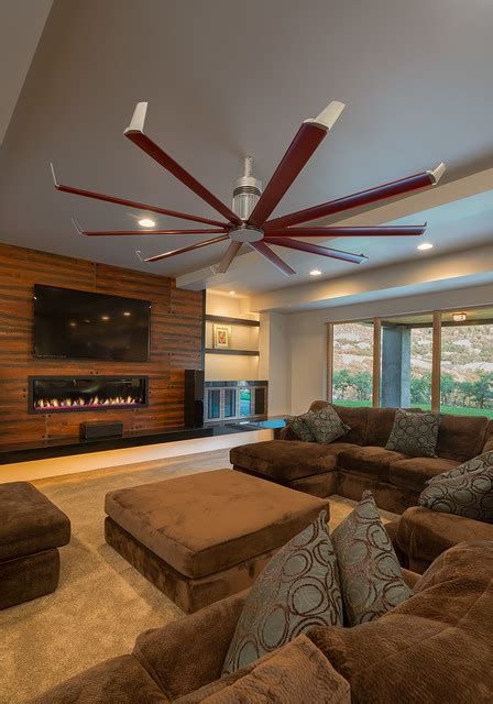 Isis Ceiling Fan Contemporary Living Room Salt Lake Ceiling Fans For Living Room