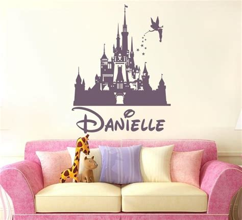 disney fairy castle   wall sticker wall chick