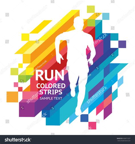 run web layout not working vector template colored emotions strips running stock