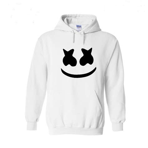 marshmello smiley hoodies hip hop fashion