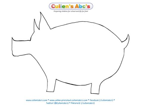 pig template for preschoolers pin by cullen s abc s on on the farm diy preschool