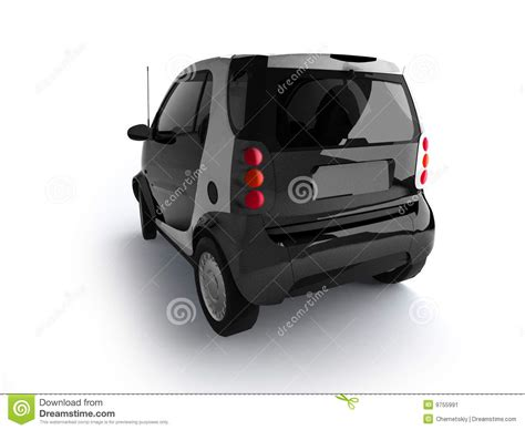 small cars black photo isolated black car back view 03 pics stock photos