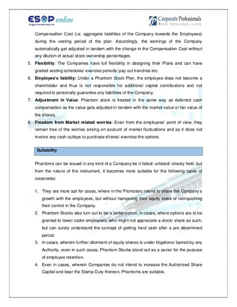 Phantom Stock Agreement Template Beautiful Template Design Ideas Phantom Stock Agreement Template