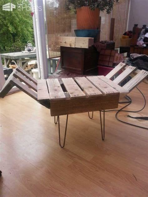 upcycled pallet bench retro style indoor bench from upcycled pallet steel