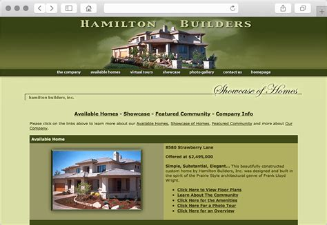 home builder website design colorado custom home builder web design