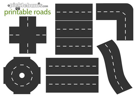 printable road maps for toy cars printable roads for awesome imaginative play picklebums