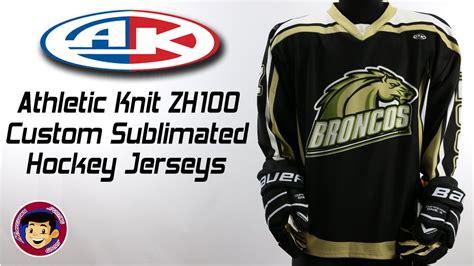 athletic knit customizer athletic knit zh100 custom sublimated hockey jerseys