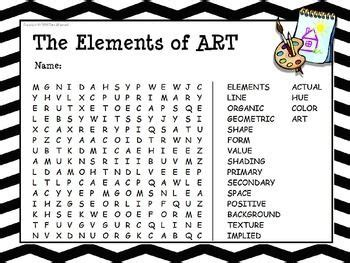 design elements words the elements of art word search school pinterest art