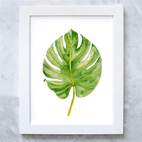 Leaf Print watercolor landcolor skycolor palm leaf print tropical