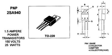 transistor a940 2 2sa940 datasheet a940 pdf pnp power tr mospec