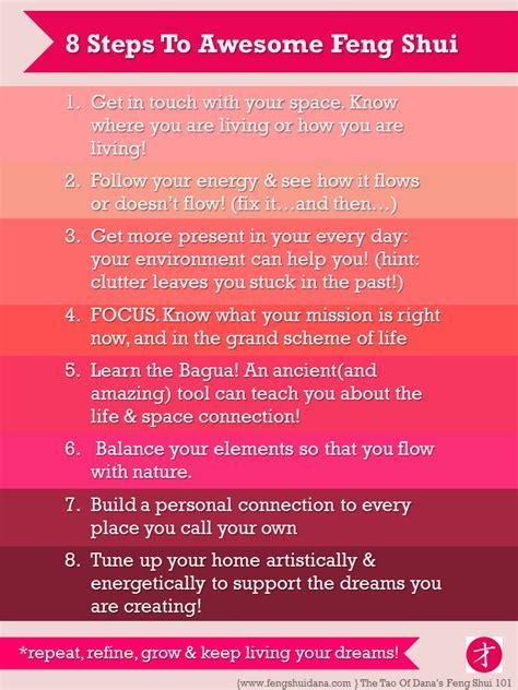 way feng shui 8 steps to awesome feng shui the tao of dana