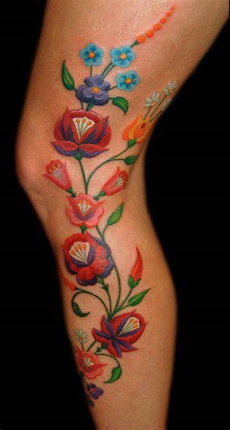 flower leg tattoo floral tattoos designs ideas and meaning tattoos for you