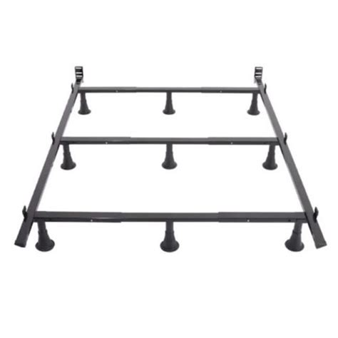 9 Leg Metal Bed Frame With Headboard Brackets Full Metal Bed Frame Brackets